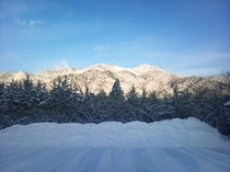 雪景色 駐車場