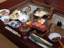 百姓屋敷の囲炉裏端で味わう奥飛騨かか様料理(一例)☆