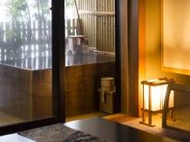 源泉温泉かけ流し露天風呂付き客室