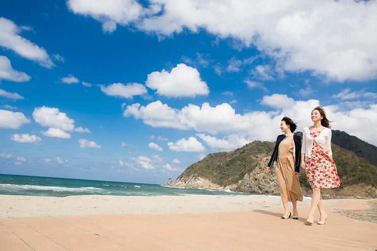 浜坂県民サンビーチを散歩