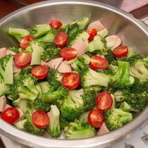 【朝食】温野菜ブロッコリー