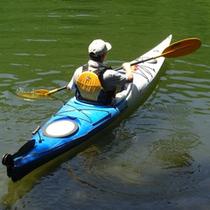 ヴィレッジ白州のカヌー体験
