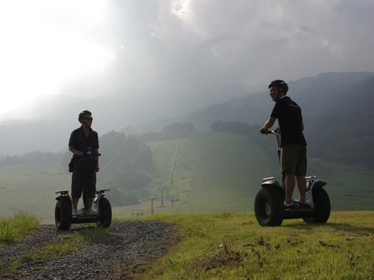 セグウェイに乗って、早朝の森をスイスイ「セグウェイ早朝ライド体験付きプラン」