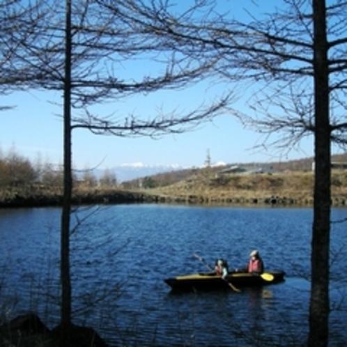 湖上での静かなひととき