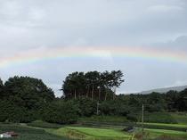 リビングからの虹