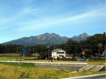 ペンションから見える八ヶ岳