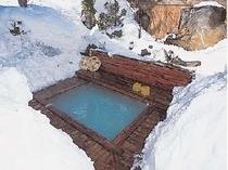 冬の貸切露天風呂