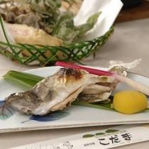 岩魚と天ぷら