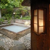 露天風呂と行灯