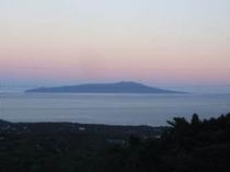 大島の夕暮れ