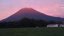 羊蹄山 秋の夕暮れ時
