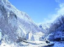 冬晴れの天人峡