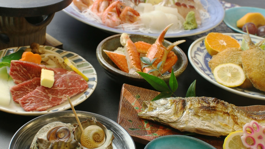 新鮮な海の幸とお肉を楽しむ とね会席~風