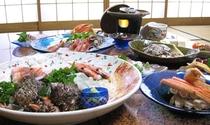 旬の海の幸盛り沢山のお料理