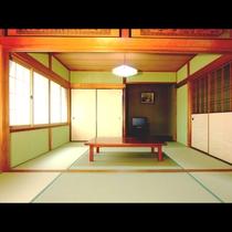 1日1組限定!12畳の広々とした和室です。リーズナブルかつ6名くらいなら広々とお寛ぎいただけます。