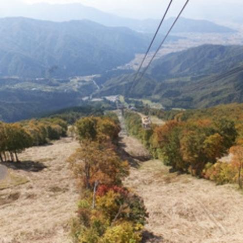 *【周辺(秋)】ロープウェーをご利用いただくと、360°の大パノラマが楽しめます。