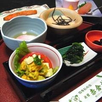 *【朝食一例】美味しいご飯と妙高の自然をお楽しみください。