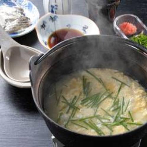 〆の雑炊は、トラフグの出汁がたっぷり!