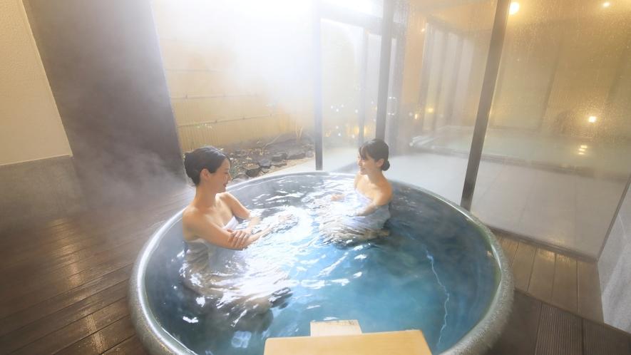 【大浴場/夢ざくら】広々とした空間で、ゆったりお寛ぎいただけます。