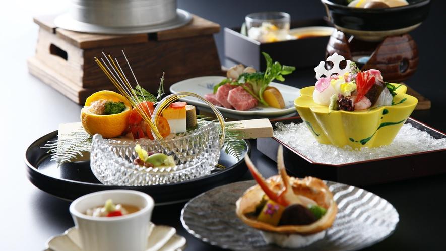 色鮮やかな目にも楽しい季節の会席料理をご堪能ください。※イメージ