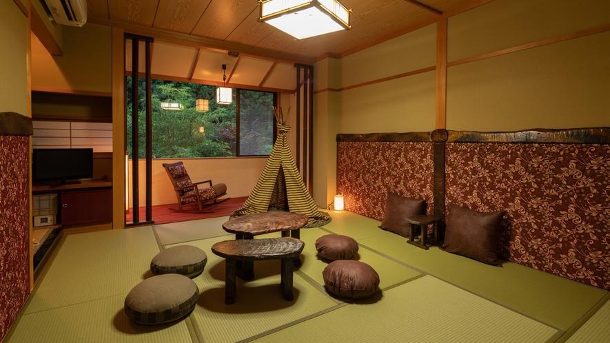 「モダン和室」一例。お子様がわくわくする「小さなテント」があるお部屋も♪