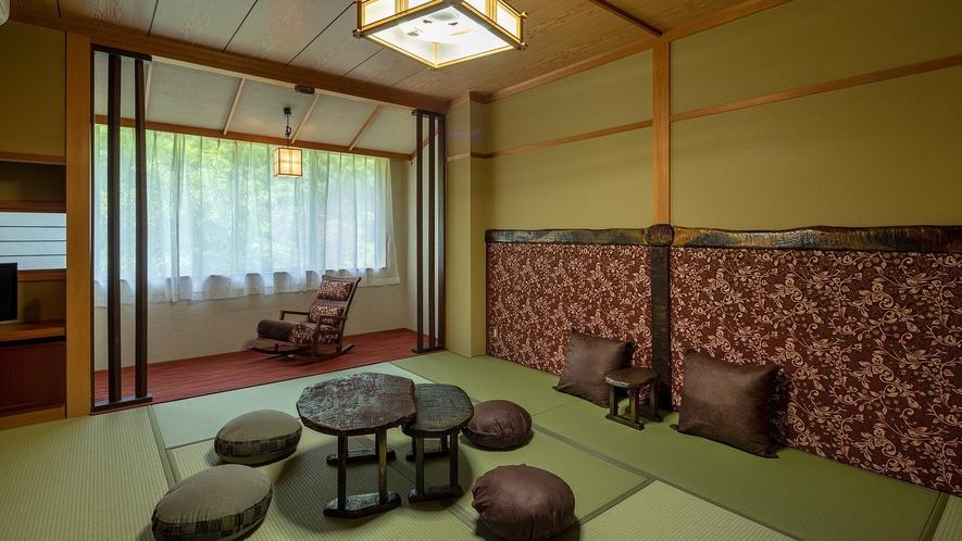 「モダン和室」一例。ロッキングチェアの座り心地も抜群。