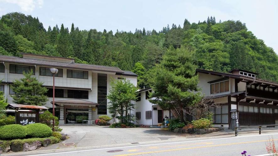 【昼】岐旅館山「本館」と「古民家食事棟」