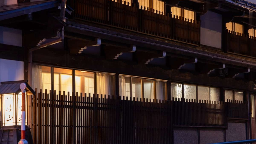 【夜】旅館岐山「食事処」
