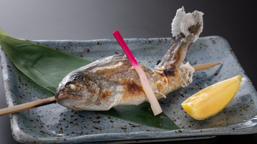 【焼物】虹鱒の塩焼き