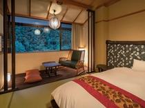 「ローベッド和室」一例。広縁には2人掛けのソファーをご準備!