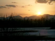 ぬかびら温泉近郊の夕焼け!