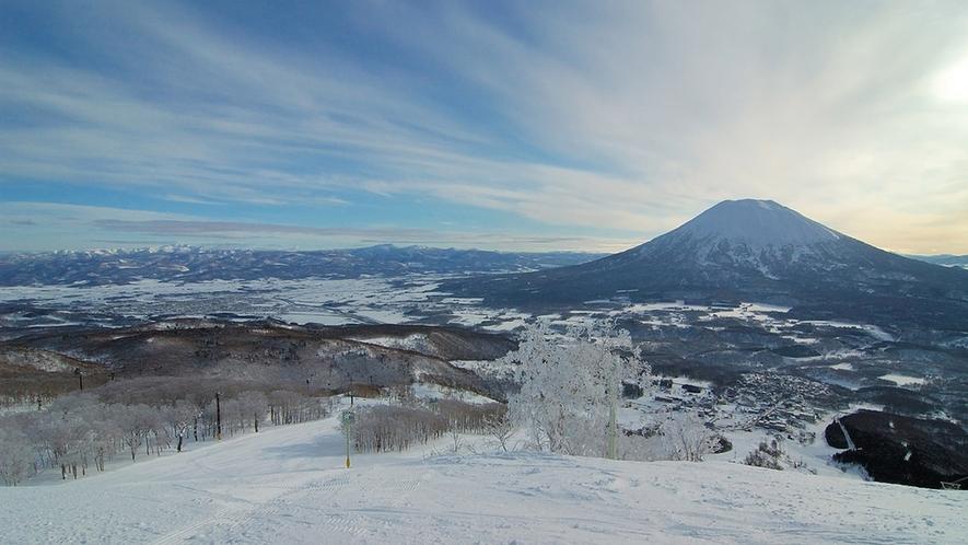 【ニセコひらふスキー場】極上のパウダーを満喫できる。