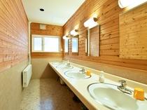 【本館・洗面コーナー】共同でのご利用となります。