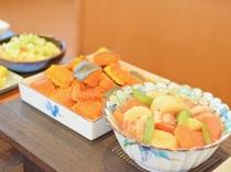 【朝食ビュッフェ】北海道の食材を取り入れたメニューもございます。