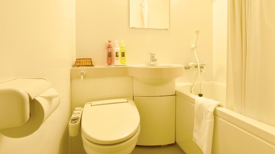 【羊蹄館客室(新館)】全室バス・トイレ完備です。(※本館客室はバス・トイレ無し)