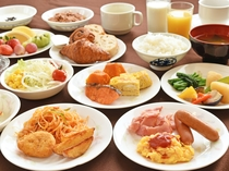 【朝食ビュッフェの一例】一日の始まりは朝食から♪充実のメニューをご用意しております。