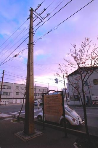 日本最古の電柱