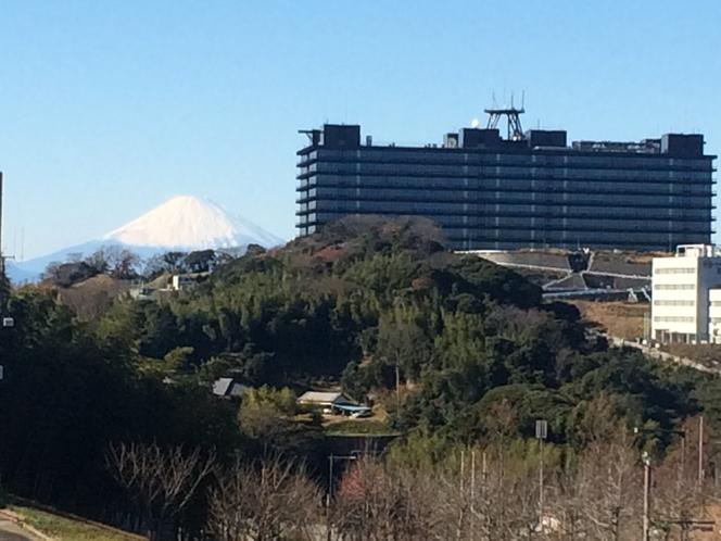 【眺望】天気の良い日は一部客室から富士山を拝めます