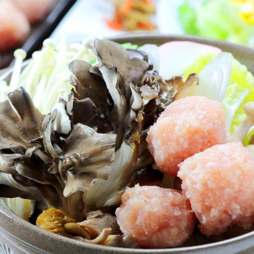 ☆舞茸と鳥団子の鍋アップ1