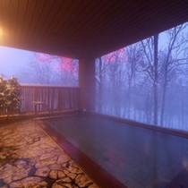 森の天空露天風呂(冬)