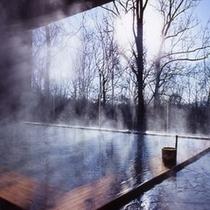 森の天空露天風呂(春)