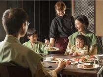 ※【夕食】ハーフビュッフェスタイル