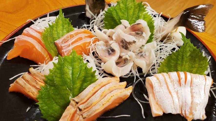 ・【料理一例】川魚お造り盛り合わせ