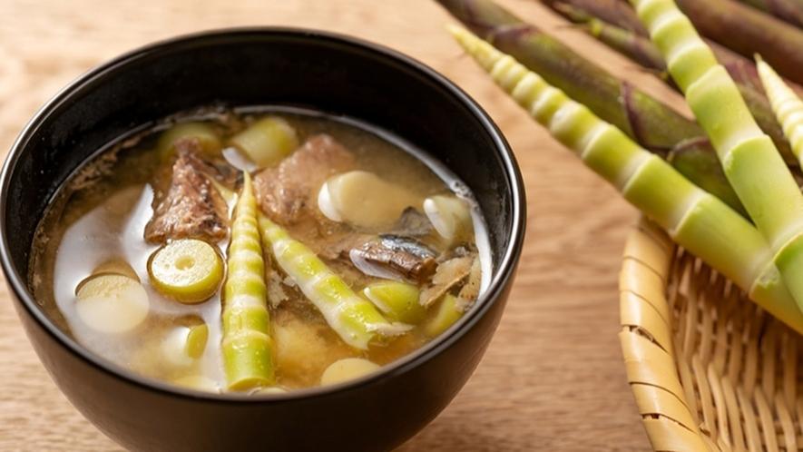 ・【料理一例】北信州・山の恵み「根曲り竹」