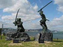 【周辺観光】厳流島 武蔵と小次郎像