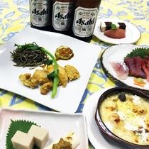 *夕食一例/自家製の美味しいお米とお野菜、お肉もお魚も楽しめます。