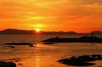 きららビーチ焼野 夕陽
