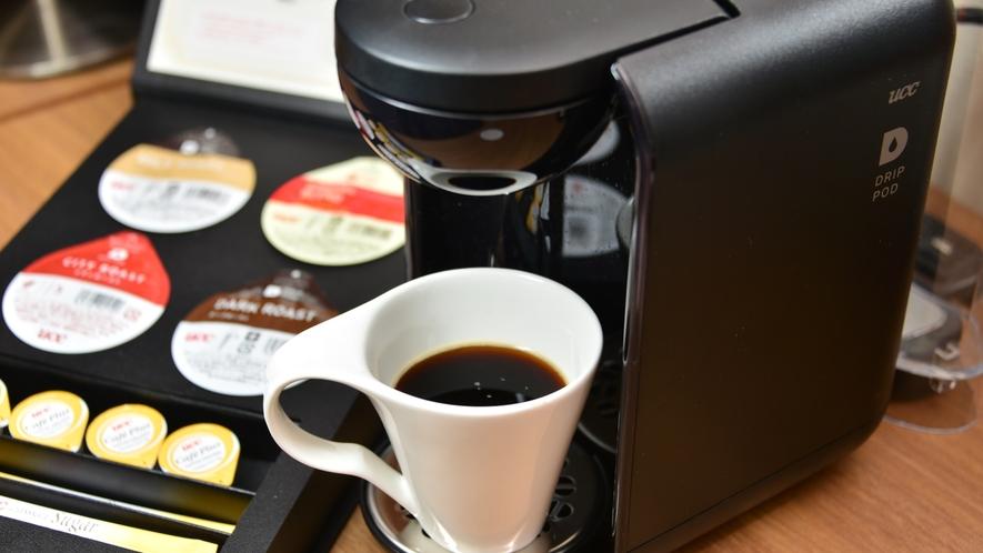 客室にはコーヒーマシンも※一部客室除く