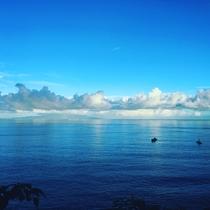 何気ない日の海