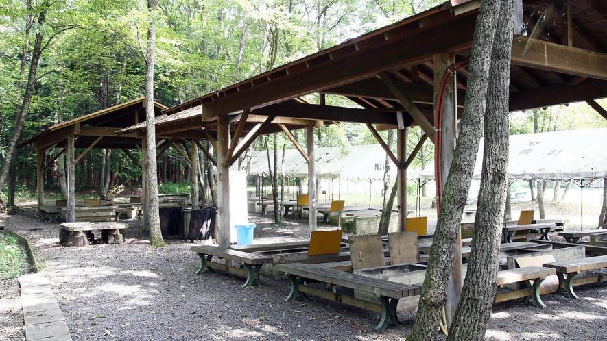 *BBQコテージ/緑の木立の中にあり森林浴をしながら楽しめます♪